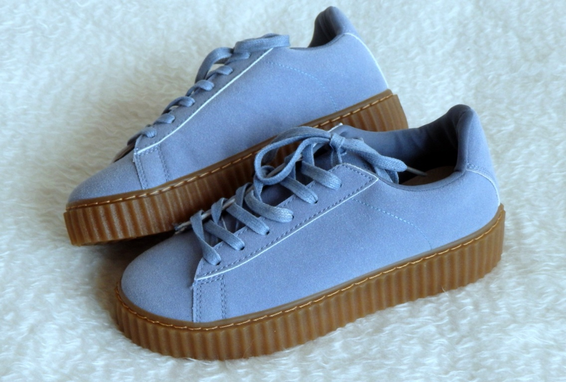 Creepers boty Baby blue