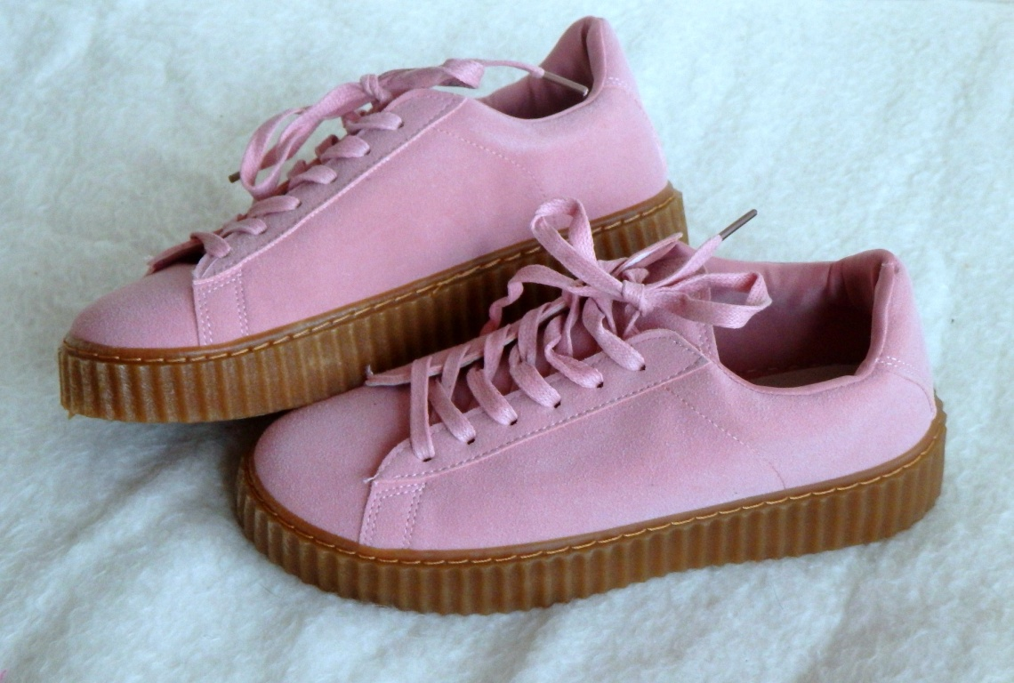 Creepers boty  Powder Pink